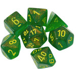 Chessex Borealis Maple Green Yellow 7 die set