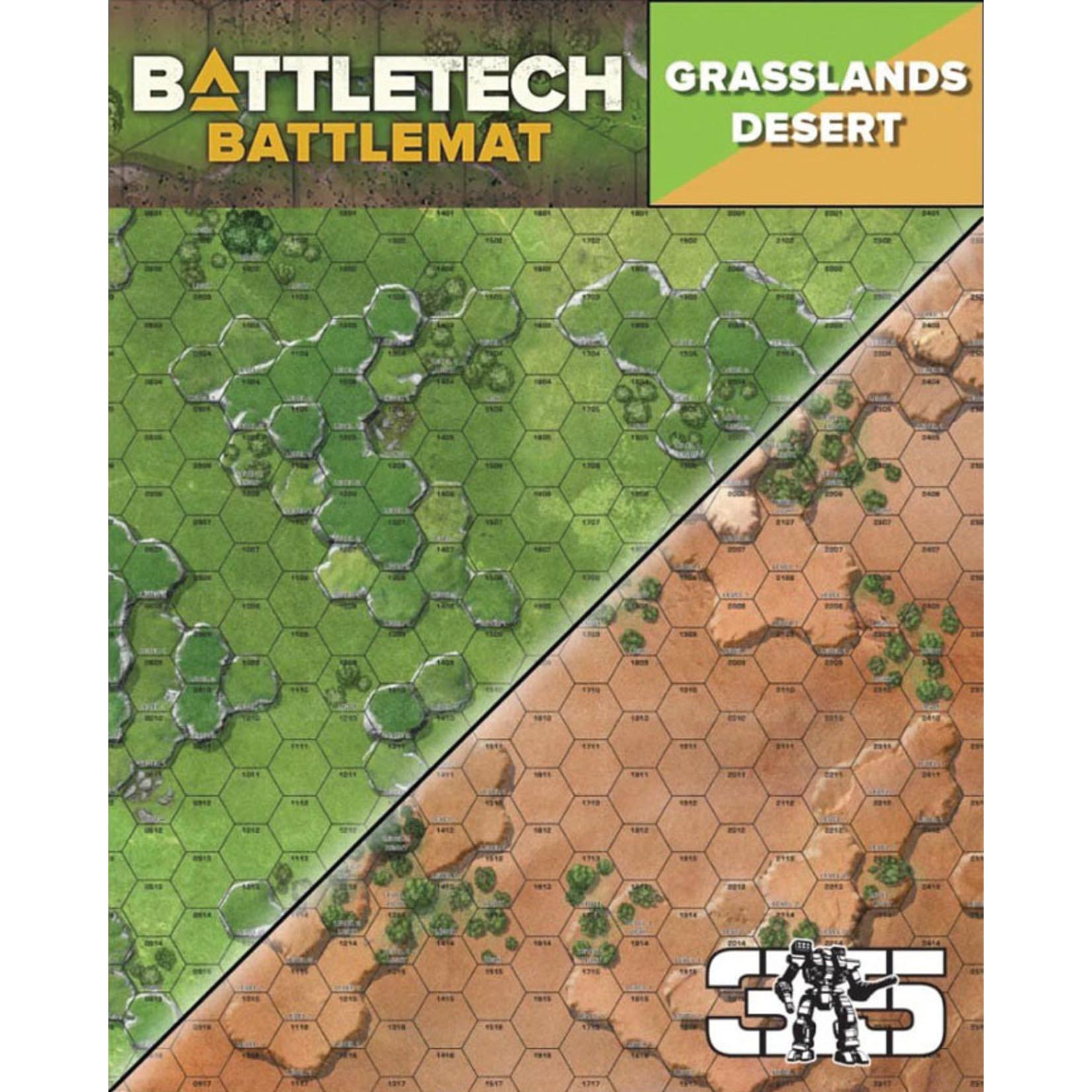 Catalyst Game Labs BattleTech Battle Mat Grasslands Desert