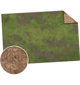 Monster Fight Club Monster Game Mat 6x4 Broken Grassland Desert Scrubland Grig