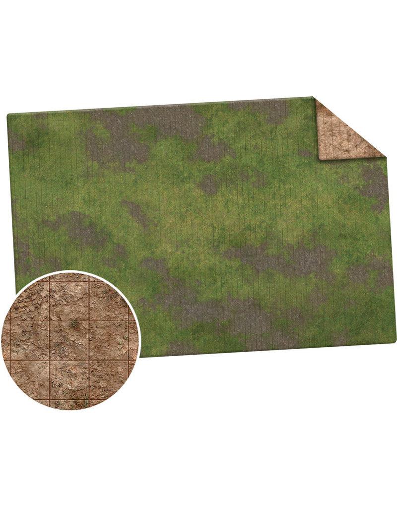 Monster Fight Club Monster Game Mat 6x4 Broken Grassland Desert Scrubland Grig
