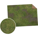 "Monster Fight Club Monster Game Mat 22""x30"" Broken Grassland Desert Scrubland Grid"