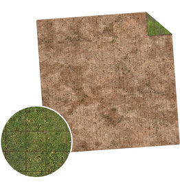 Monster Fight Club Monster Game Mat 3x3 Broken Grassland Desert Scrubland Grig