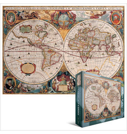 EuroGraphics Antique World Map 1000pc