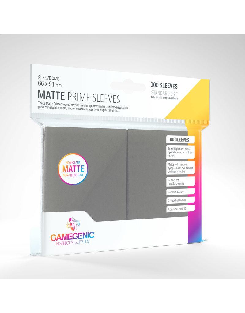 GAMEGEN!C Matte Prime Sleeves Dark Gray (100) 66 x 91mm