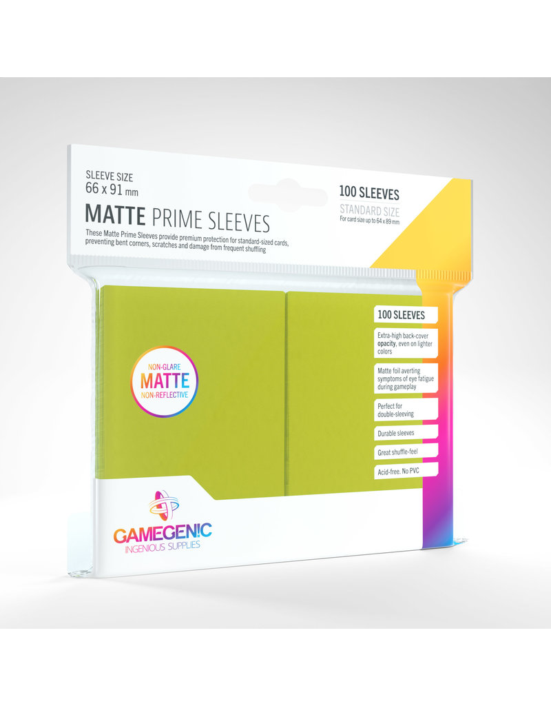 GAMEGEN!C Matte Prime Sleeves Lime (100) 66 x 91mm