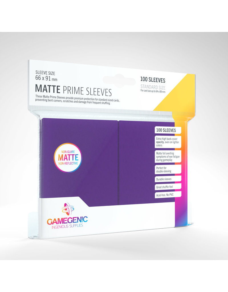 GAMEGEN!C Matte Prime Sleeves Purple (100) 66 x 91mm