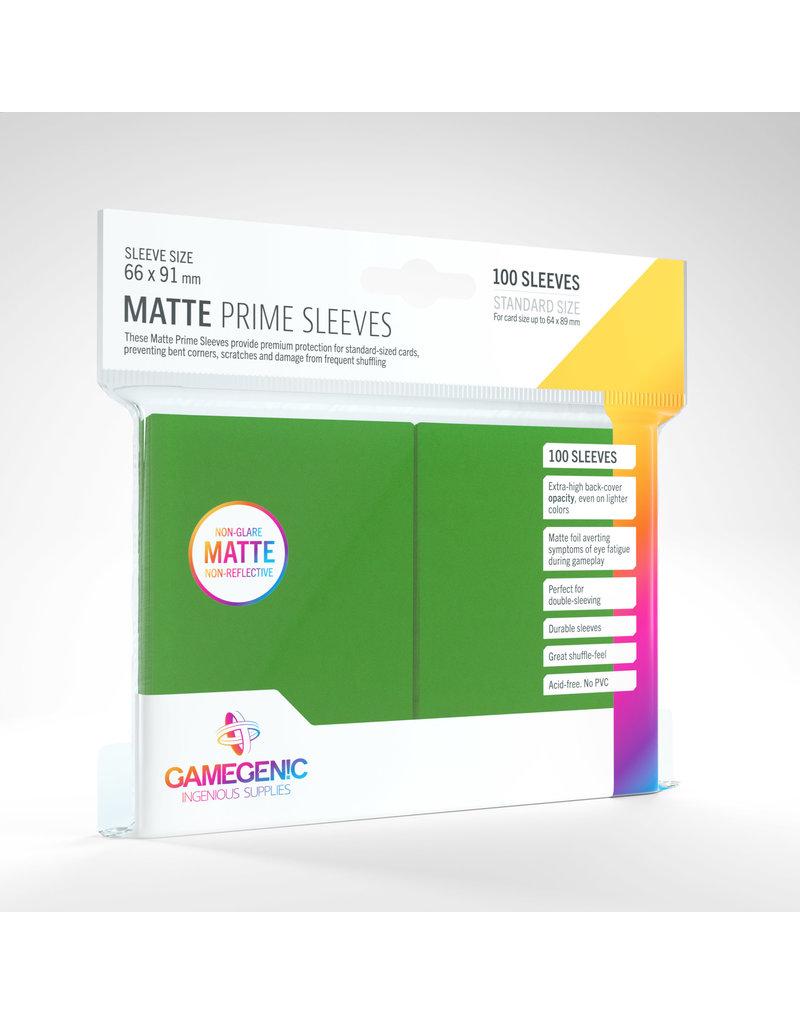 GAMEGEN!C Matte Prime Sleeves Green (100) 66 x 91mm