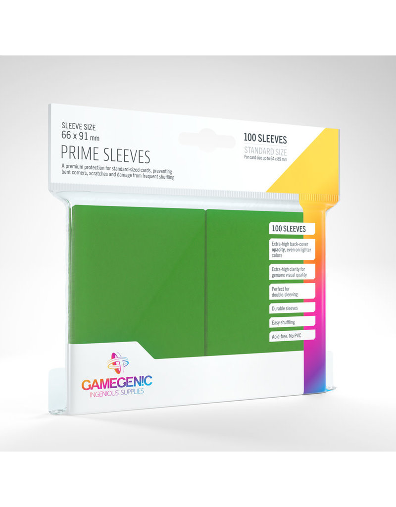 GAMEGEN!C Prime Sleeves Green (100) 66 x 91mm