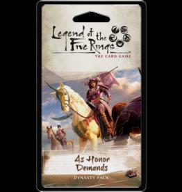 Fantasy Flight Games As Honor Demands Dynasty Pack L5R LCG
