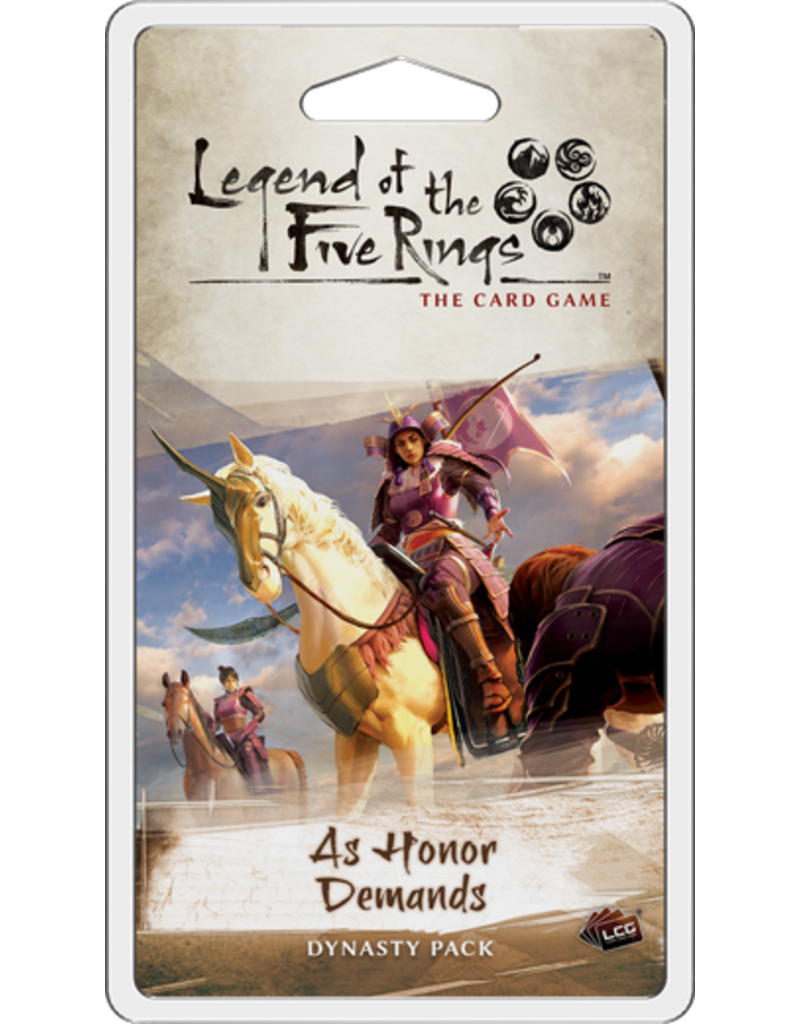 Fantasy Flight Games As Honor Demands Dynasty Pack L5R LCG