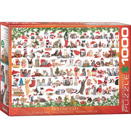 EuroGraphics Holiday Cats 1000pc