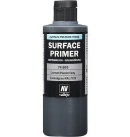 Acrylicos Vallejo Auxiliary Products: German Panzer Grey Primer (200ml)