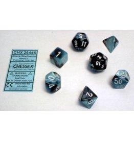 Chessex Gemini Black Shell white 7 die set