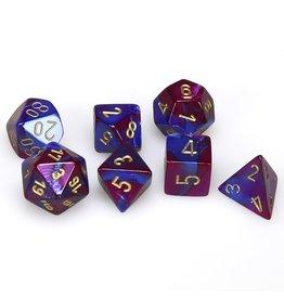 Chessex Gemini Blue Purple Gold 7 die set