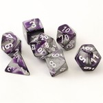 Chessex Gemini Purple Steel White 7 die set