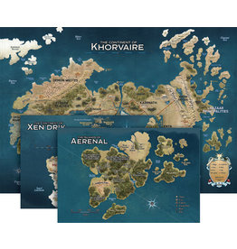 GaleForce Nine D&D RPG Eberron Rising From the Last War Nations of Khorvaire Map set