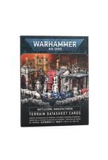 Games Workshop Battlezone Manufactorum Datasheet Cards