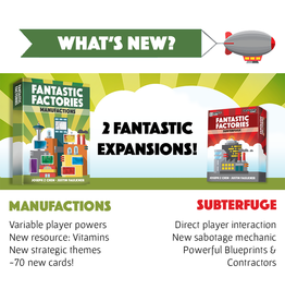 Deep Water Games Fantastic Factories Manufactions + Subterfuge KS
