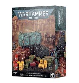 Games Workshop Battlezone Manufactorum Munitorum Armoured Containers