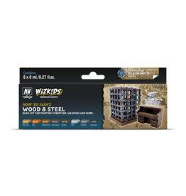 Acrylicos Vallejo WizKids Premium Paints: Wood & Steel