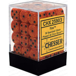 Chessex Fire Elemental 12mm D6 Dice Block (36)
