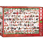 EuroGraphics Holiday Dogs 1000pc