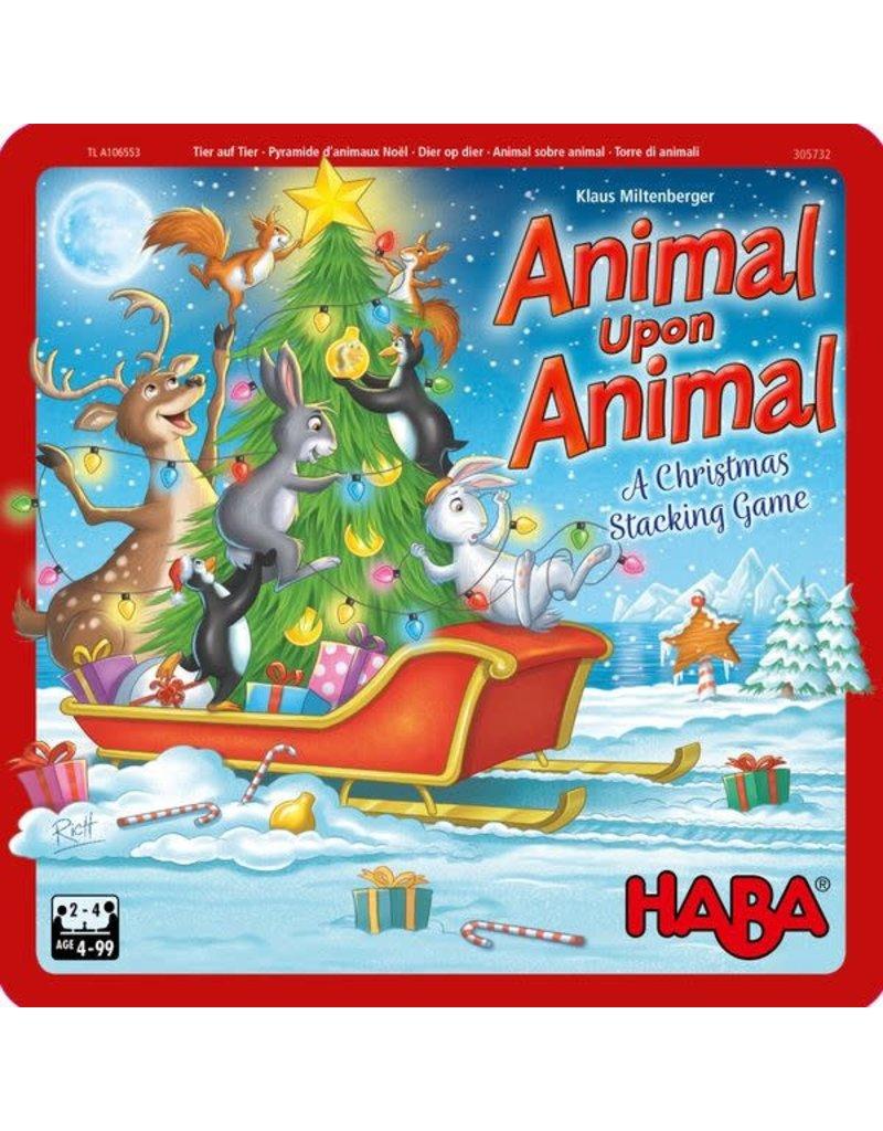 HABA USA Animal Upon Animal: A Christmas Stacking Game
