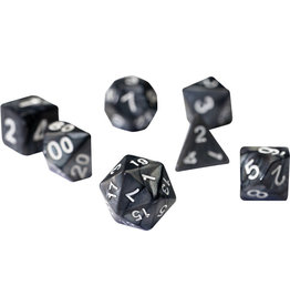 RPG Dice Set (7): Pearl Charcoal Grey Acrylic
