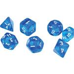 Sirius Dice RPG Dice Set (7): Translucent Blue Resin