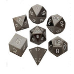 Metallic Dice Games Metal Dice: Sterling Grey 16mm Poly set