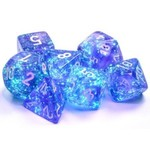 Chessex Borealis: Polyhedral Purple/white Luminary 7-Die Set