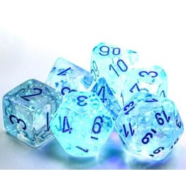Chessex Borealis: Polyhedral Icicle/light blue Luminary 7-Die Set
