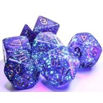 Chessex Borealis: Polyhedral Royal Purple/gold Luminary 7-Die Set