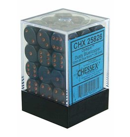 Chessex Opaque: 12mm D6 Dusty Blue/Copper (36)