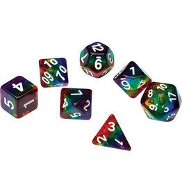 Sirius Dice RPG Dice Set (7): Rainbow Translucent Resin