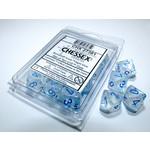 Chessex Borealis Icicle light blue Luminary d10 set