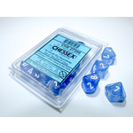 Chessex Borealis Sky Blue white Luminary d10 set