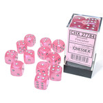 Chessex Borealis: 16mm d6 Pink/silver Luminary Dice (12)