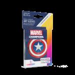 GAMEGEN!C MC Captain America Art Sleeves (50) 66 x 91mm