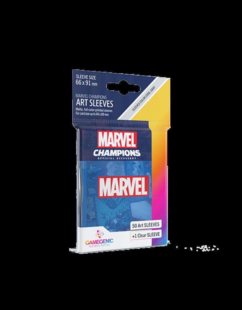GAMEGEN!C Marvel Champions Blue Art Sleeves (50) 66 x 91mm