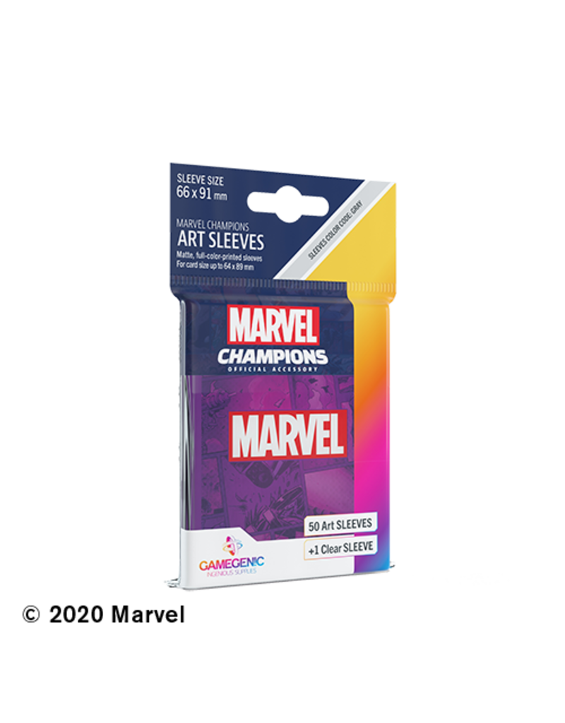 GAMEGEN!C Marvel Champions Purple Art Sleeves (50) 66 x 91mm