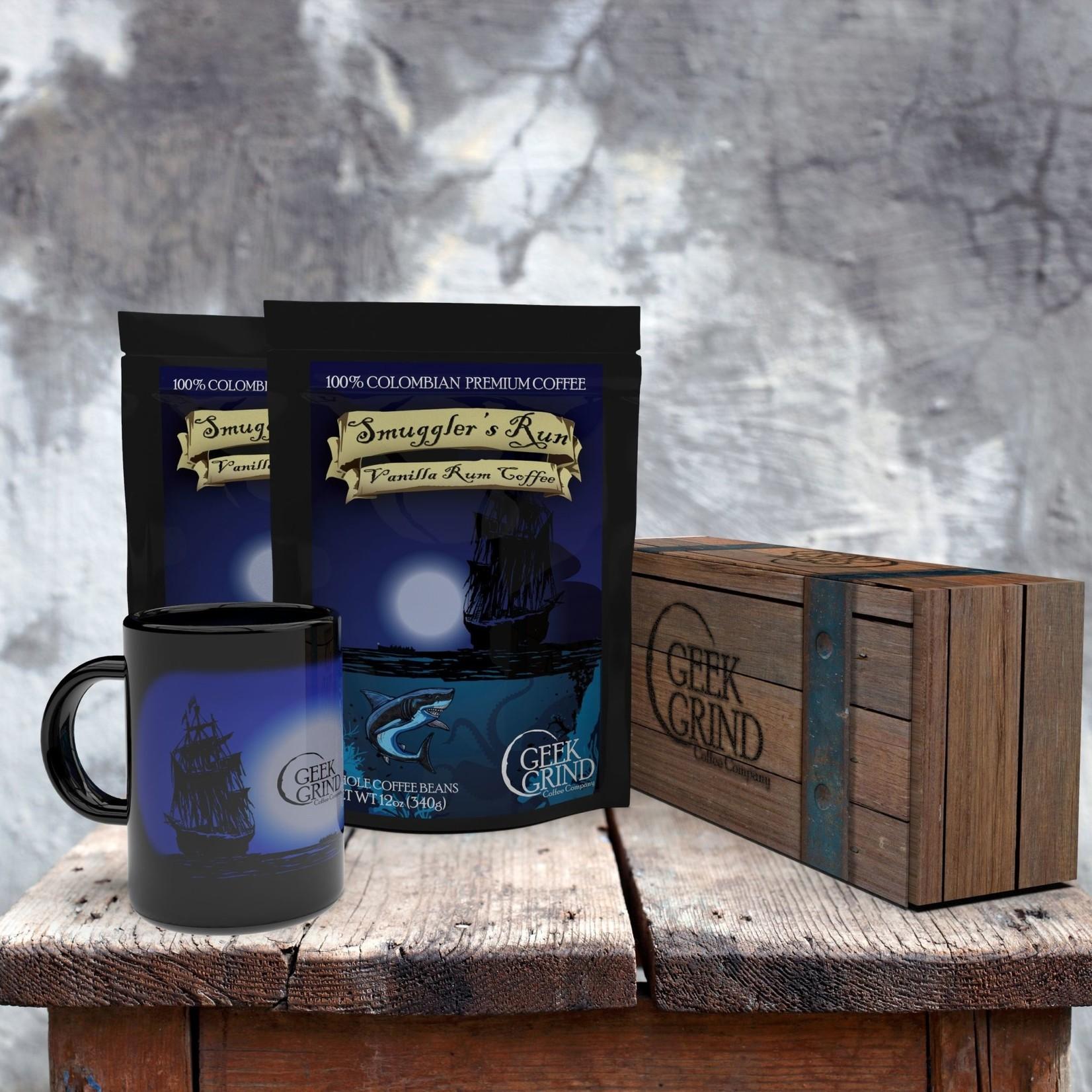 Geek Grind Smuggler's Run & Cup Coffee Gift Crate
