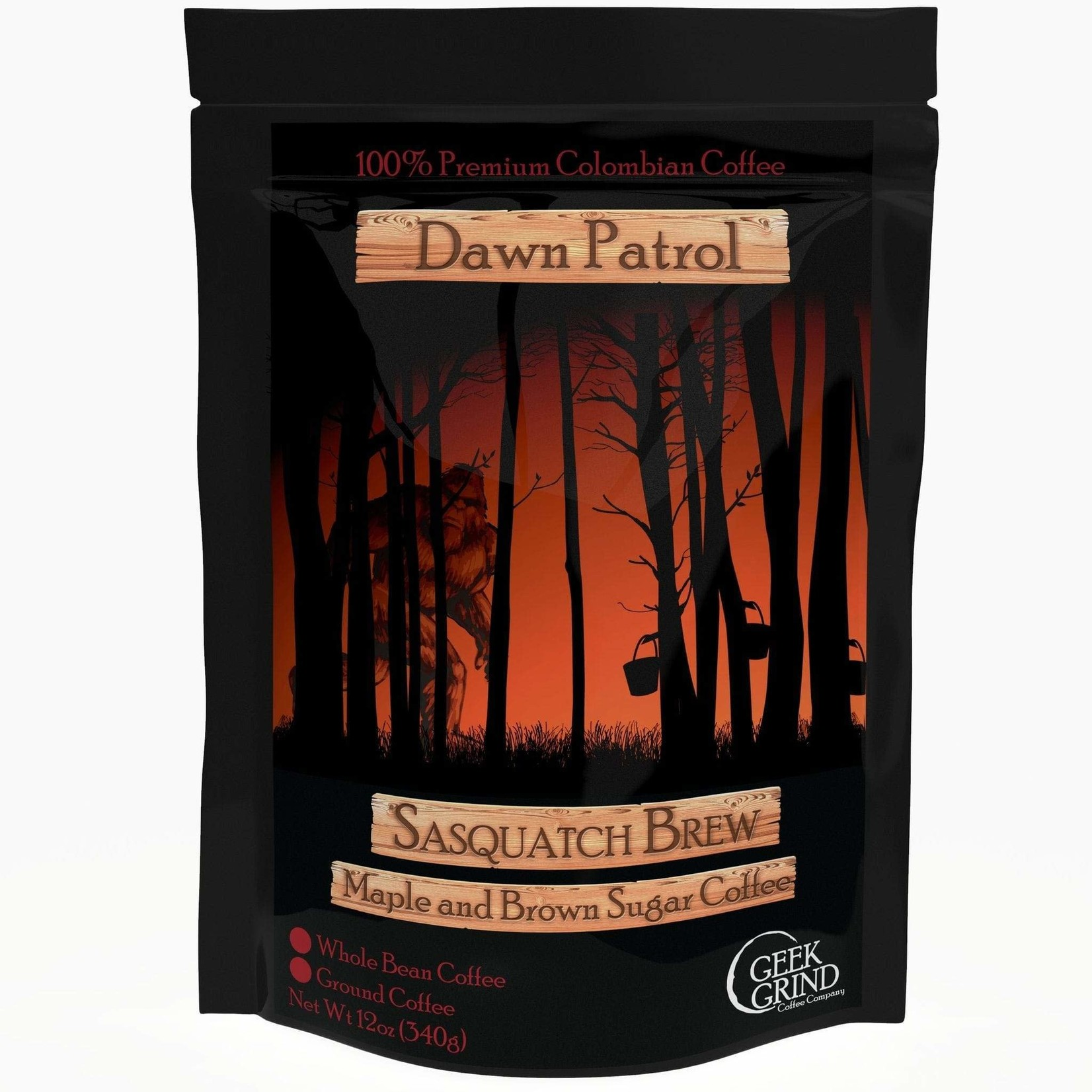 Geek Grind Dawn Patrol Sasquatch Brew Maple and Brown Sugar