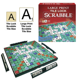 Winning Moves Games Large Print Tile Lock Scrabble