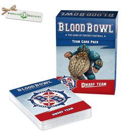 Games Workshop Dwarf Blood Bowl Team Cards Pack