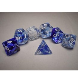 Chessex Nebula Dark Blue white 7 die set