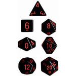 Chessex Opaque Black/Red 7 die set
