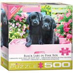 EuroGraphics Black Labs in Pink Box 500pc