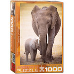 EuroGraphics Elephant & Baby 1000pc