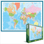 EuroGraphics Map of the World 1000pc